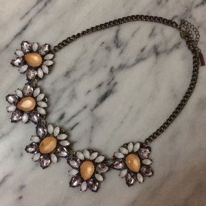 Dramatic Floral Crystal Statement Necklace